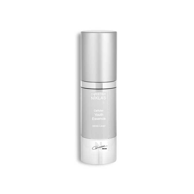 Cellular Youth Essence White Level mit Deckel von Christine Niklas