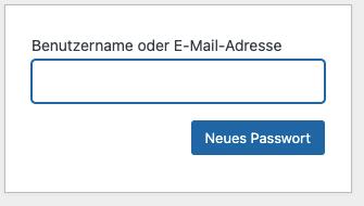 Passwort zurücksetzen